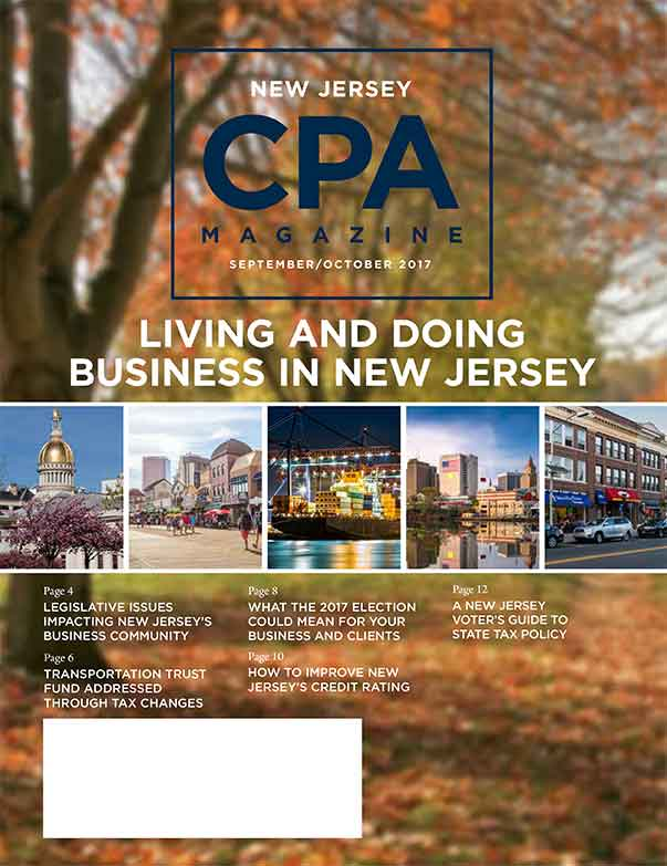 New Jersey CPA - September/October 2017
