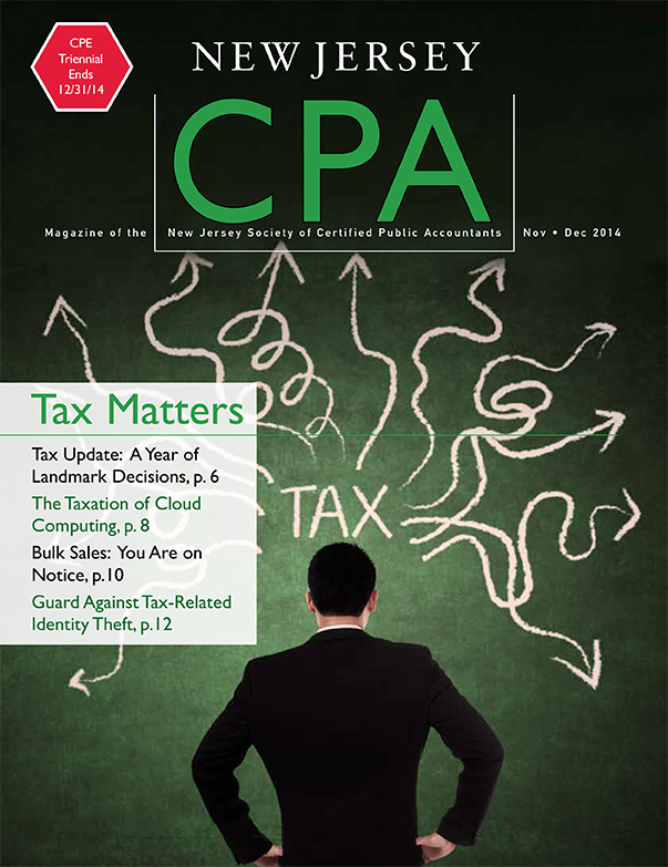 New Jersey CPA - November/December 2014