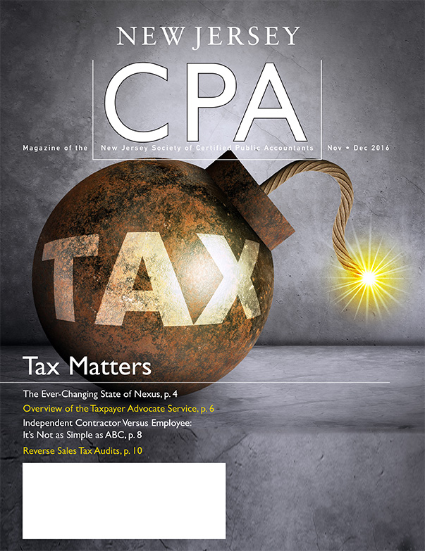 November/December 2016 New Jersey CPA