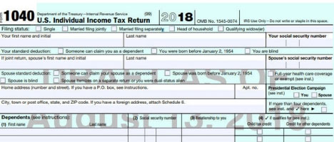 New Streamlined 1040 Tax Form For 2019 Is Not So Simple