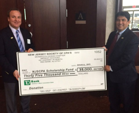 Monmouth/Ocean Chapter contribution to NJCPA Scholarship Fund