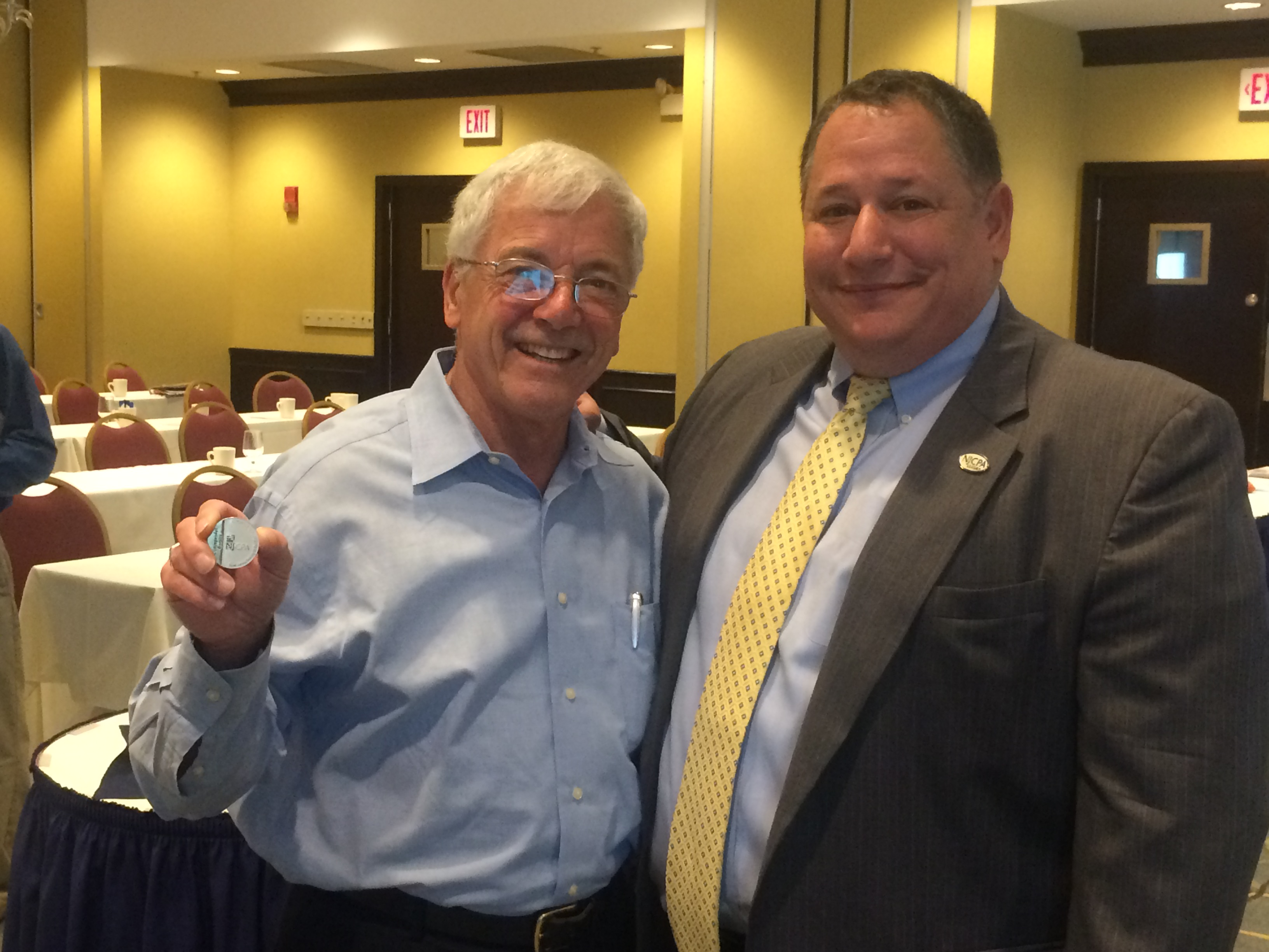 Past Morris/Sussex Chapter president Pat Deo receives NJSCPA Distinguished Service Medallion